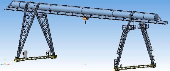 Кран козловой трубчатой конструкции грузоподъемностью 5 и 10 тонн